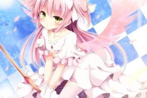 Mahou Shoujo Madoka Magica, Kaname Madoka, Wings, Anime, Anime girls, Petals