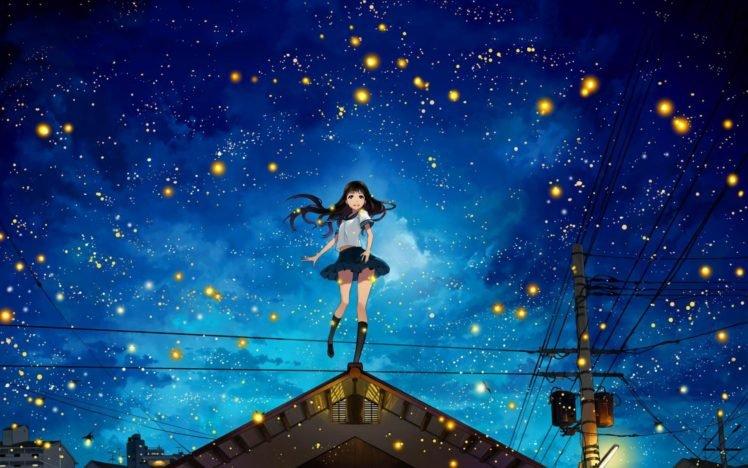 anime, Original characters, School uniform, Anime girls, Manga HD Wallpaper Desktop Background