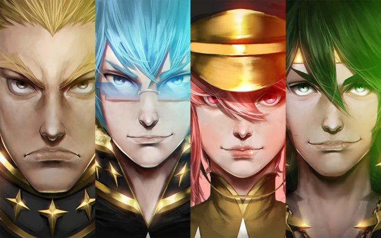 Kill la Kill, Anime, Gamagouri Ira, Sanageyama Uzu, Jakuzure Nonon, Inumuta Houka, Realistic HD Wallpaper Desktop Background