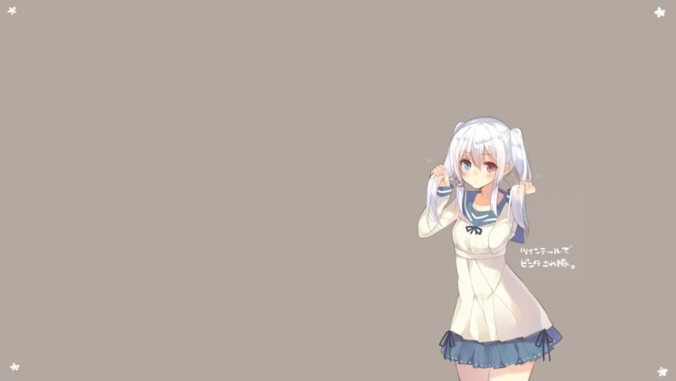 anime, Anime girls, Simple background, Original characters