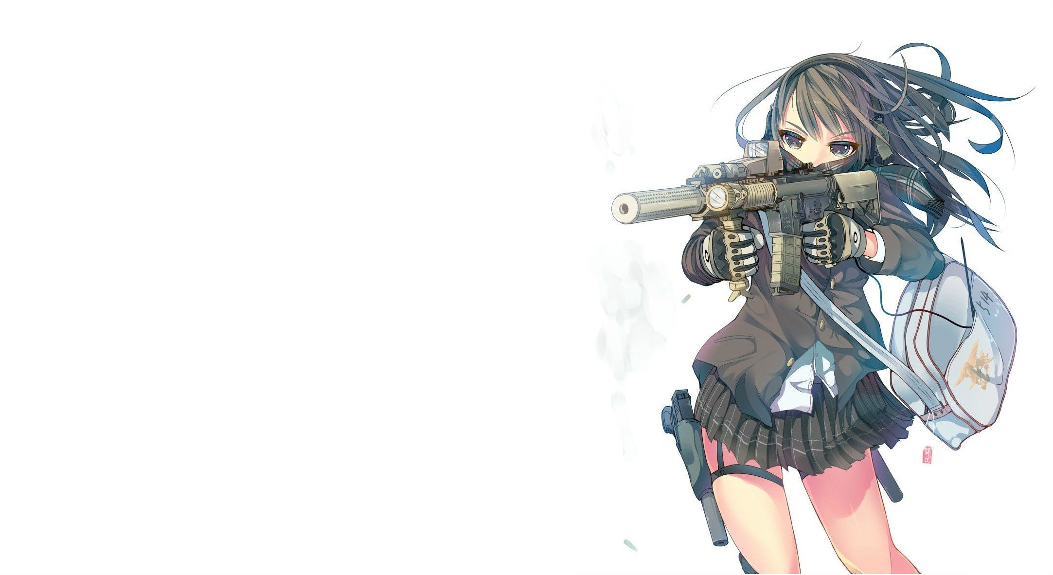 Original characters anime anime girls gun school - Gun girl anime ...