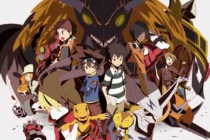 Digimon Adventure, Digimon, Summer Wars, Crossover, King Kazma, Agumon, Tentomon, Gabumon, Patamon