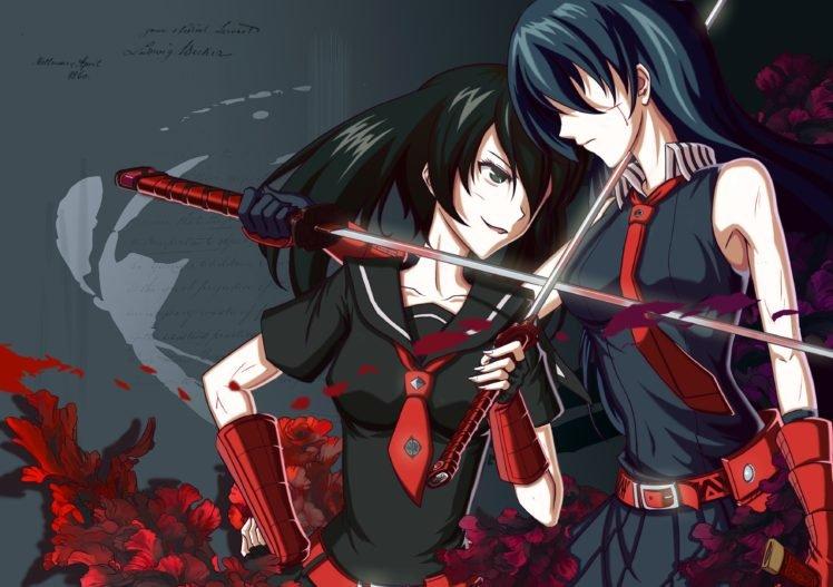 Akame ga Kill!, Akame, Kurome, Sword HD Wallpaper Desktop Background