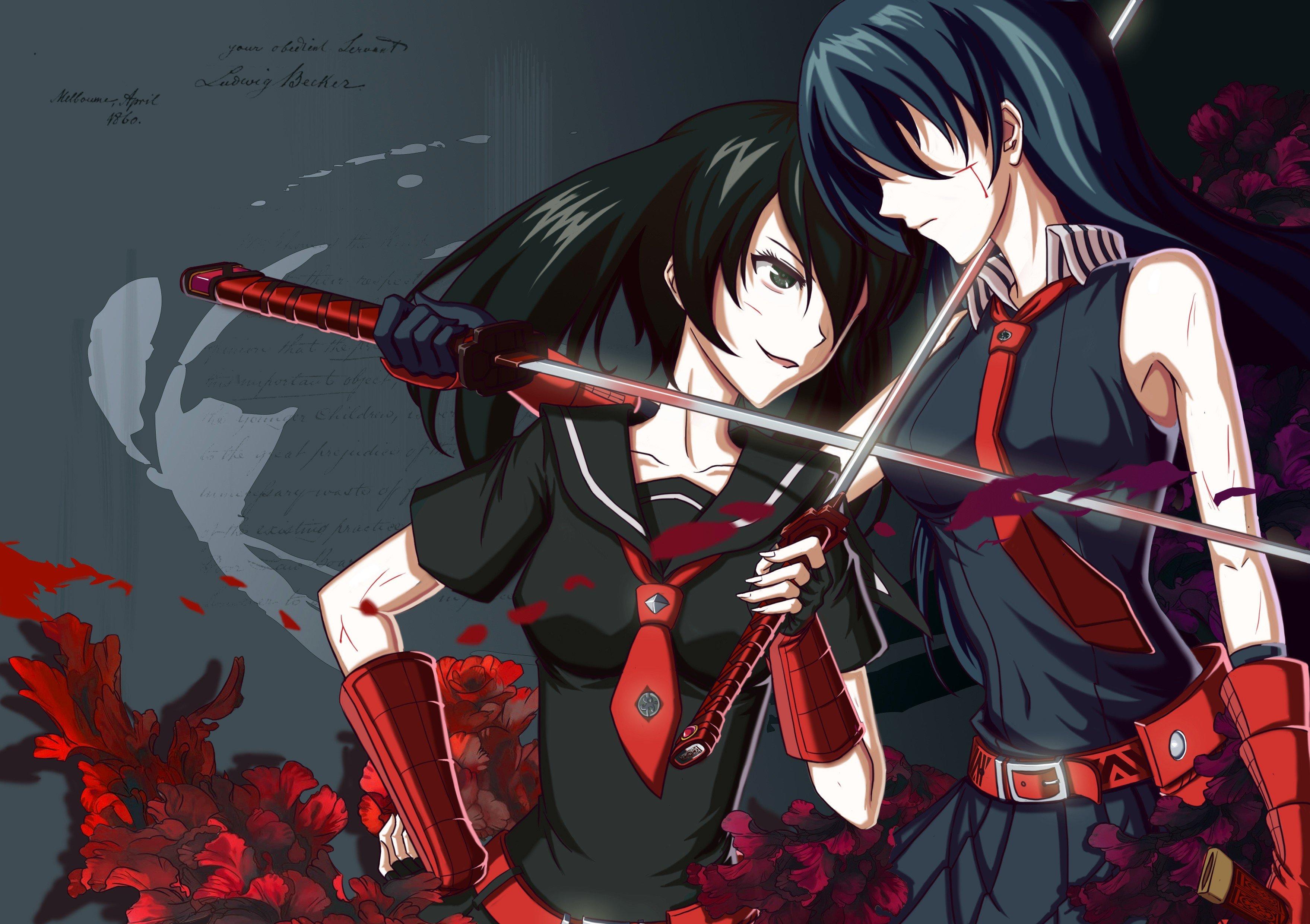 Akame Ga Kill Akame Kurome Sword Hd Wallpapers Desktop And