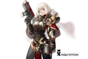 Warhammer 40, 000, Sisters of Battle, White hair, Blue eyes