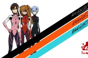 Neon Genesis Evangelion, Asuka Langley Soryu, Ayanami Rei, Makinami Mari Illustrious