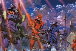 Neon Genesis Evangelion, Ayanami Rei, Ikari Shinji, Asuka Langley Soryu, EVA Unit 02, EVA Unit 00, EVA Unit 01