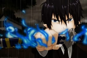 anime, Blue Exorcist, Okumura Rin, Anime boys