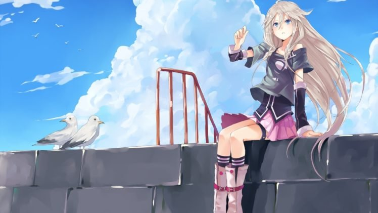 Anime Vocaloid Ia Vocaloid Pigeons Clouds Hd Wallpapers