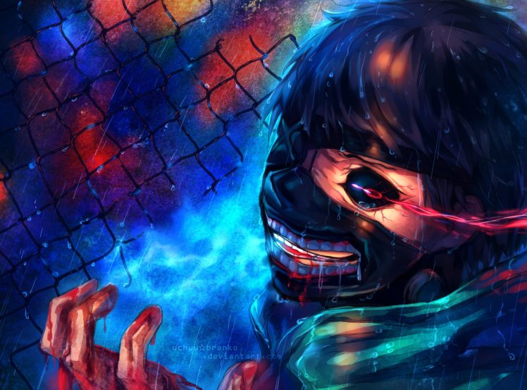 Tokyo Ghoul, Mask, Anime HD Wallpaper Desktop Background