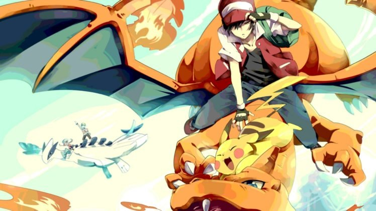 Pokemon Red Silver Crystal Charizard Lugia Hd Wallpapers
