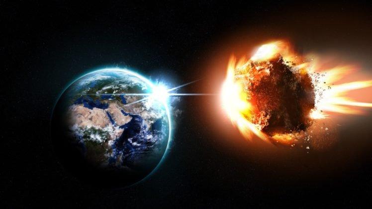 Earth, Space, Asteroid HD Wallpaper Desktop Background
