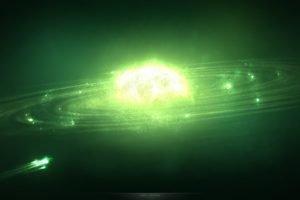 artwork, Space art, Green, Glowing