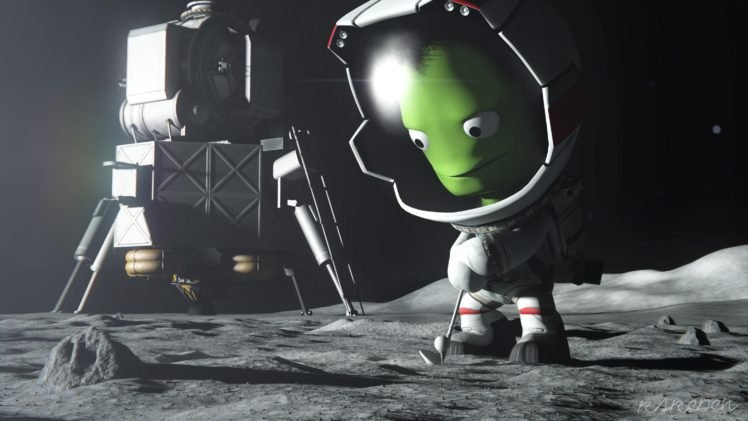 Kerbal Space Program Mun Mun Lander Kerbal Hd Wallpapers