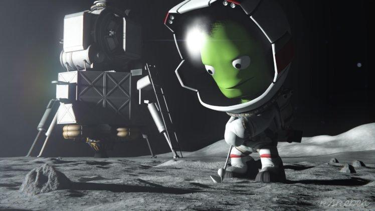 Kerbal Space Program, Mun, Mun Lander, Kerbal HD Wallpapers
