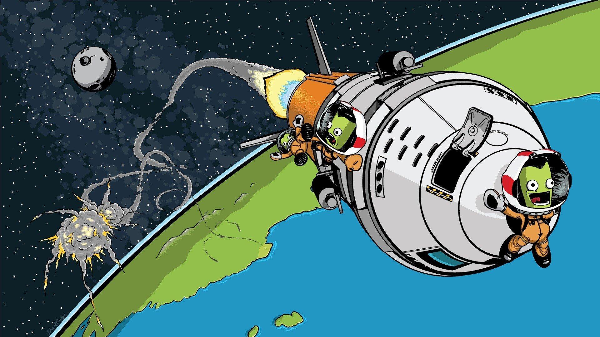 Kerbal Space Program, Launch, Crash, Rocket, Jebediah ...