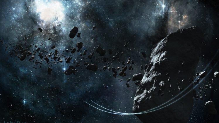 asteroid, Space art, Stars, Nebula, Space HD Wallpaper Desktop Background