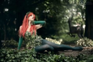 women, Cosplay, Forest, Leaves