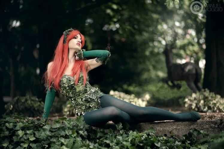 women, Cosplay, Forest, Leaves HD Wallpaper Desktop Background