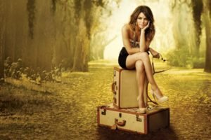 women, Brunette, Rachel Bilson, High heels, Legs, Skirt, Hart of Dixie