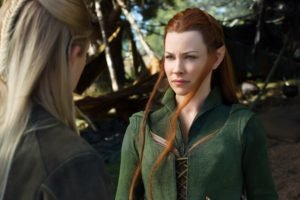 women, Redhead, Evangeline Lilly, The Hobbit, Tauriel, Movies, The Hobbit: The Battle of the Five Armies, Legolas, Orlando Bloom