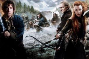The Hobbit, Movies, Tauriel, Bilbo Baggins, Legolas, Redhead, Evangeline Lilly, Orlando Bloom, Martin Freeman, The Hobbit: The Desolation of Smaug, Thorin Oakenshield
