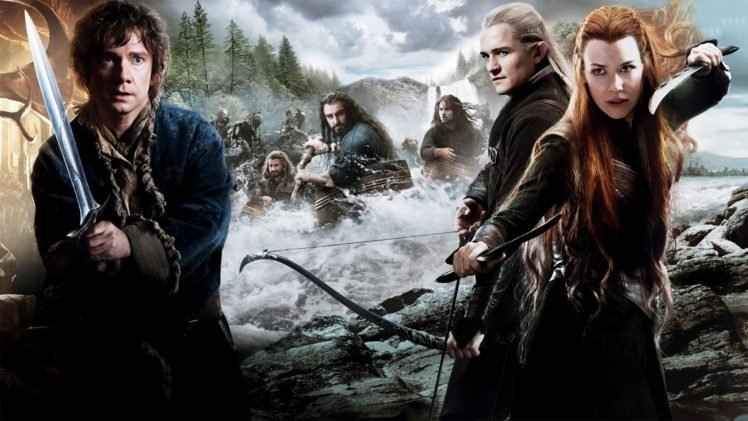 The Hobbit, Movies, Tauriel, Bilbo Baggins, Legolas, Redhead, Evangeline Lilly, Orlando Bloom, Martin Freeman, The Hobbit: The Desolation of Smaug, Thorin Oakenshield HD Wallpaper Desktop Background