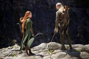 The Hobbit, Tauriel, Legolas, Redhead, Movies, Evangeline Lilly, Orlando Bloom, The Hobbit: The Desolation of Smaug