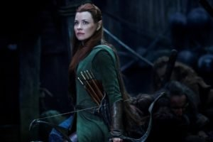 The Hobbit, Tauriel, Redhead, Women, Movies, Evangeline Lilly, Hair bows, The Hobbit: The Battle of the Five Armies