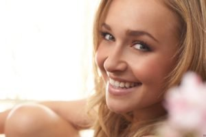 Hayden Panettiere, Blonde, Eyes, Blue eyes, Lips, Smiling