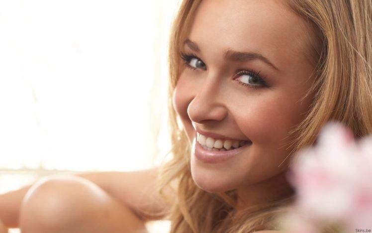 Hayden Panettiere, Blonde, Eyes, Blue eyes, Lips, Smiling HD Wallpaper Desktop Background