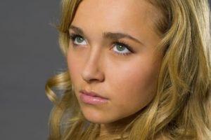 Hayden Panettiere, Blonde, Platinum blonde, Lips, Looking up, Eyes, Blue eyes