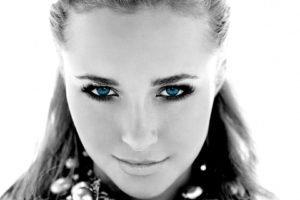Hayden Panettiere, Blonde, Platinum blonde, Eyes, Blue eyes, Lips