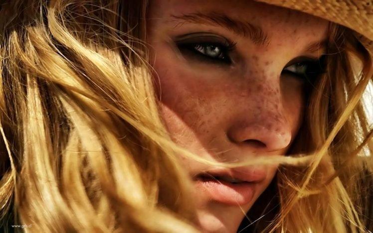 women, Face, Photo manipulation, Freckles, Blonde HD Wallpaper Desktop Background