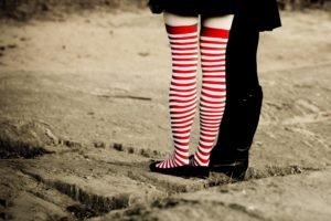 women, Striped socks