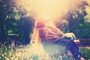 women, Sun rays, Nature