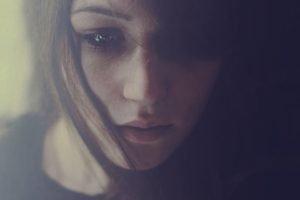 women, Brunette, Face, Closeup
