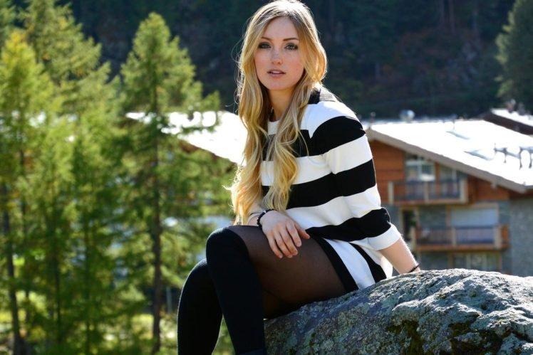 blonde, Justine Dufour Lapointe HD Wallpaper Desktop Background