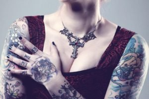 women, Tattoo