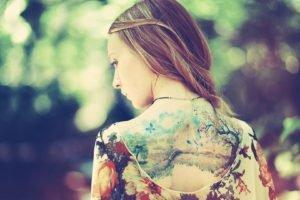 tattoo, Women, Back