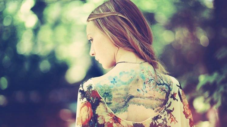 tattoo, Women, Back HD Wallpaper Desktop Background