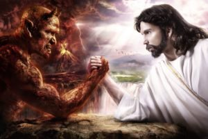 anime, Hell, Devil, Digital art, Religion, Artwork, Jesus Christ