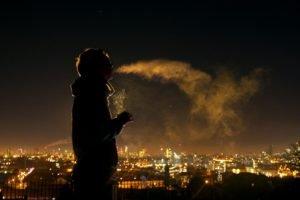 smoking, Night