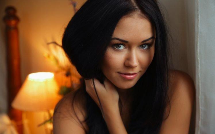 women, Brunette, Eyes, Lips, Model, Macy B HD Wallpaper Desktop Background
