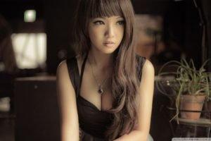 Asian, Brunette, Eyes, Women