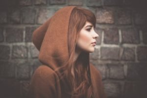 women, Model, Redhead, Bricks, Hoods
