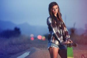 skateboard, Women, Shorts