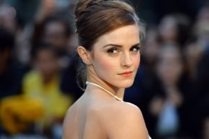 Emma Watson, Actress, Brunette, Photography, Closeup, Brown eyes, Bare shoulders