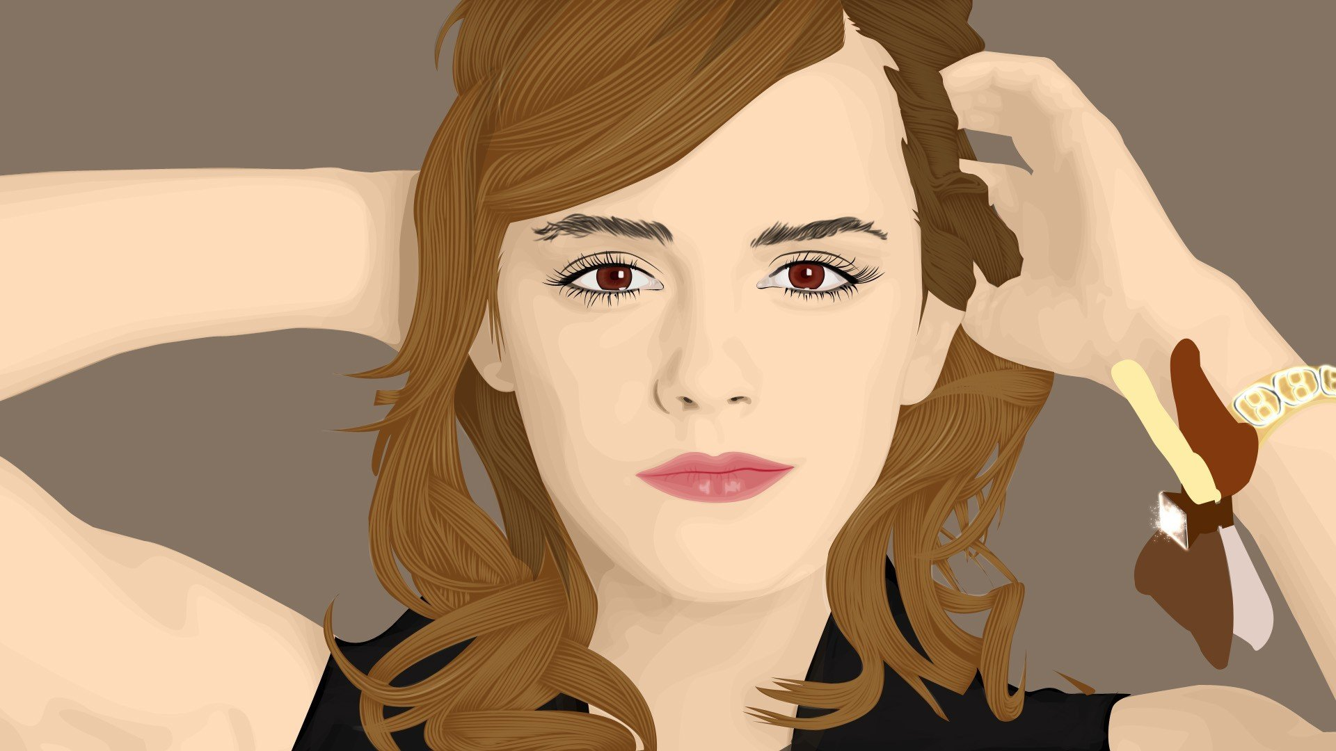 artwork, Emma Watson Wallpaper
