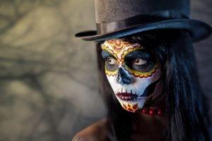 women, Brunette, Body paint